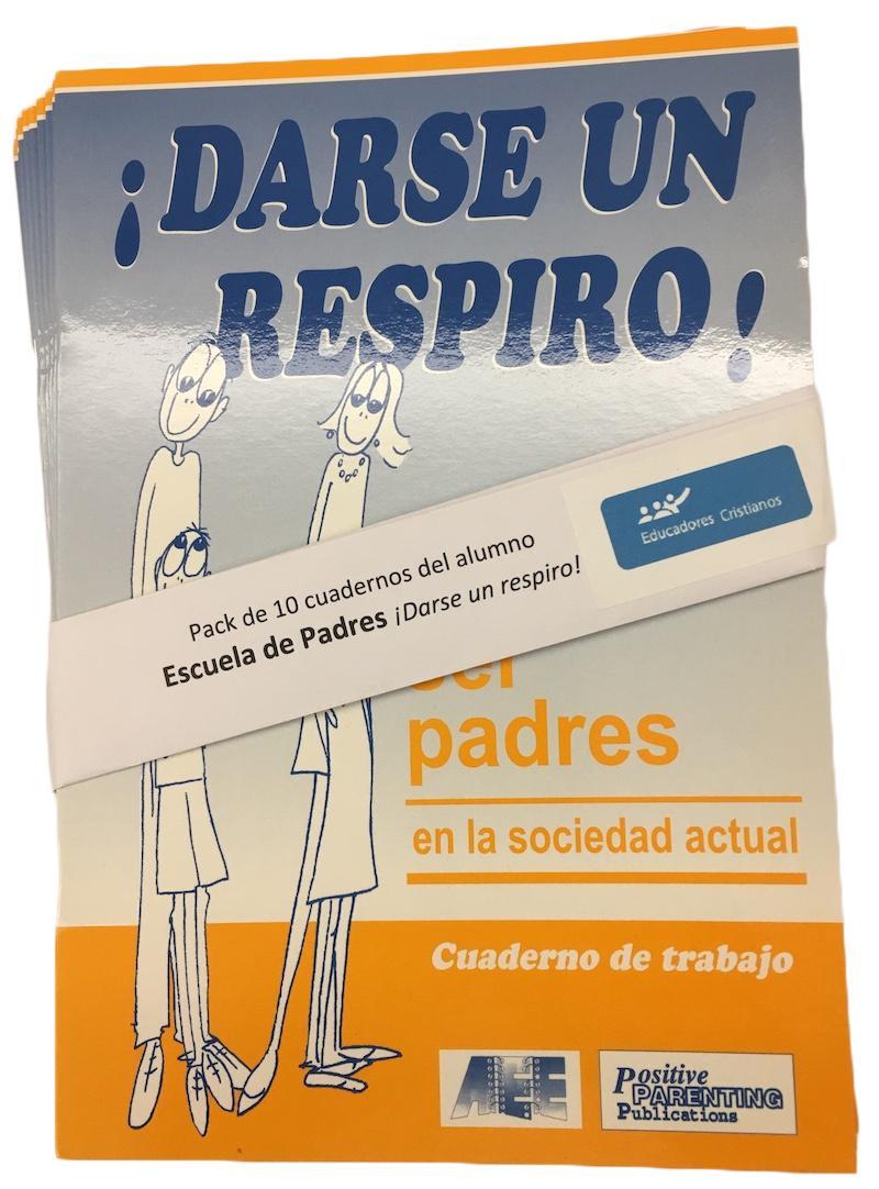 Pack de 10 Cuadernos del alumno de ESCUELA DE PADRES ¡Darse un respiro!